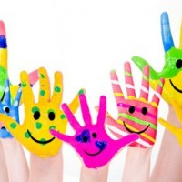 coloful hands